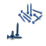 Concrete Screw, Blue Finish (Inch)